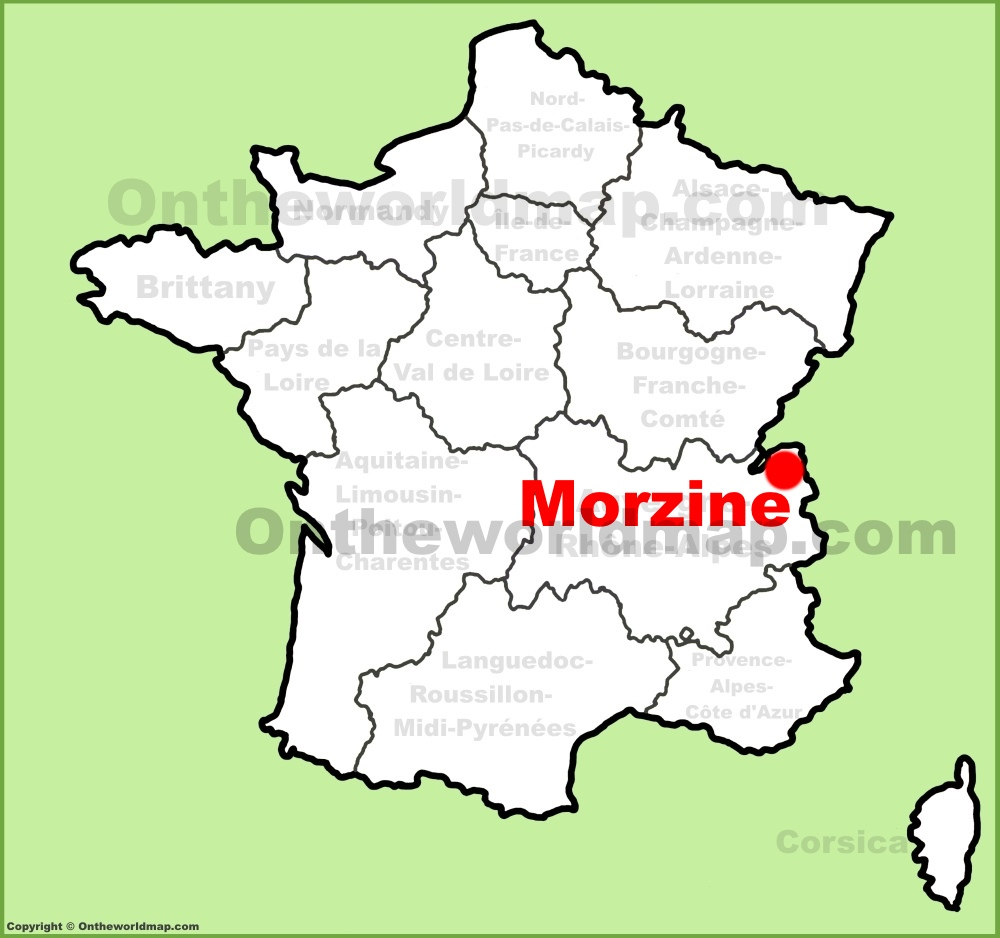 Morzine location on the France map
