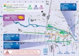 Morzine parkings map