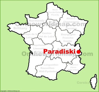 Paradiski Location Map