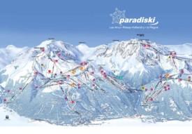 Paradiski piste map