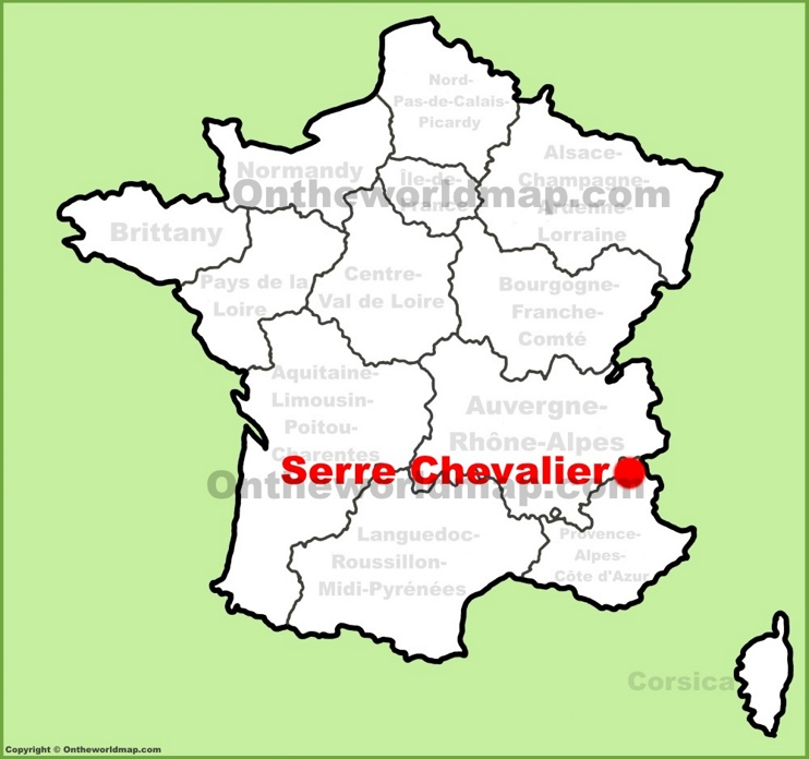 Serre Chevalier location on the France map