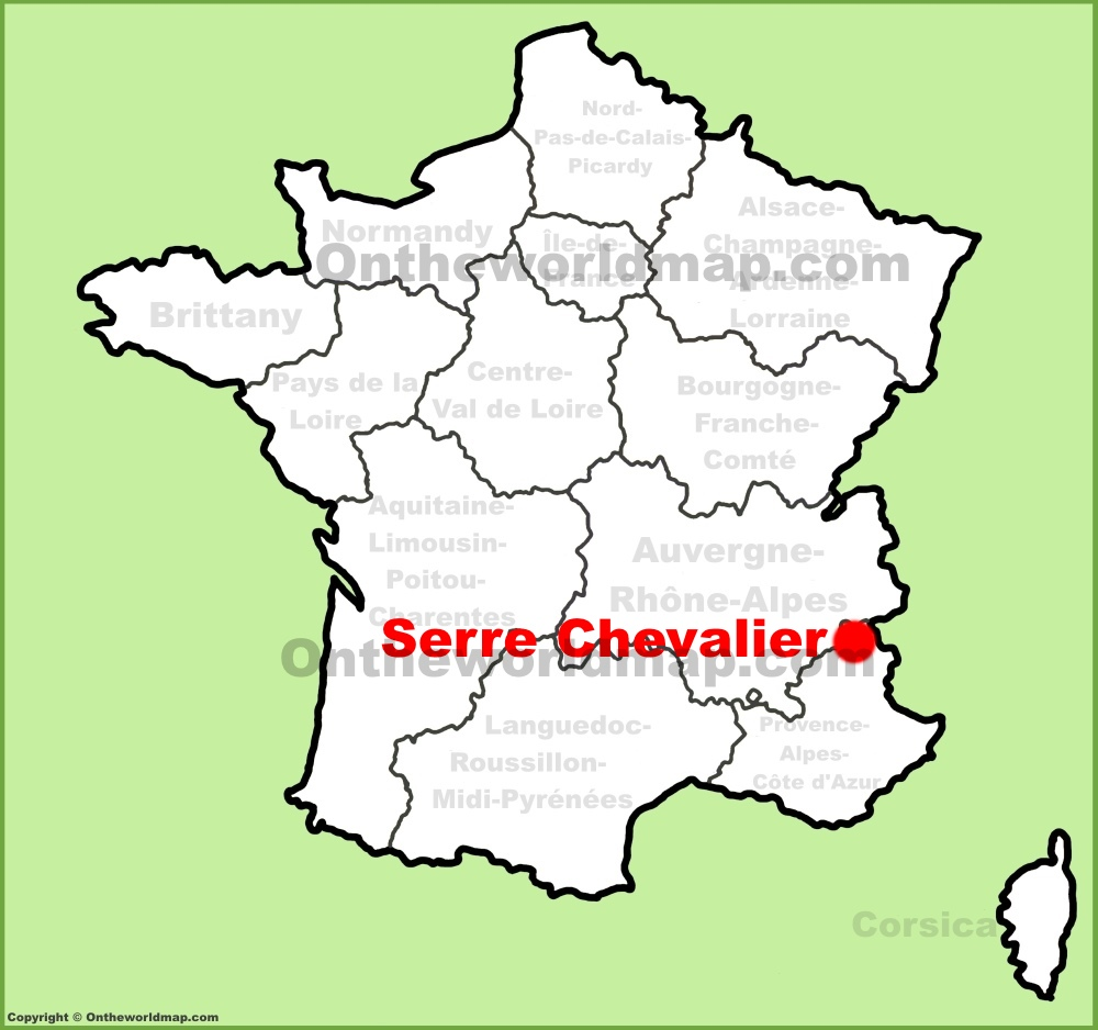 serre chevalier location on the france map. Black Bedroom Furniture Sets. Home Design Ideas