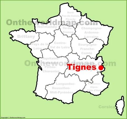 Tignes Location Map