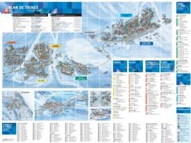 Tignes resort map