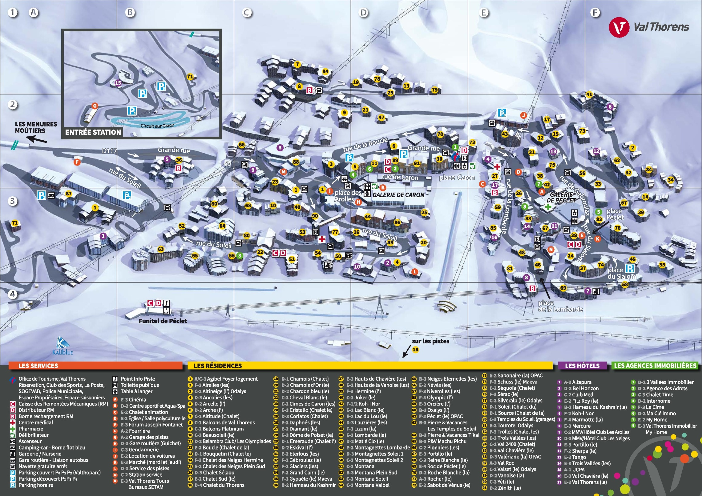 Val Thorens hotel map