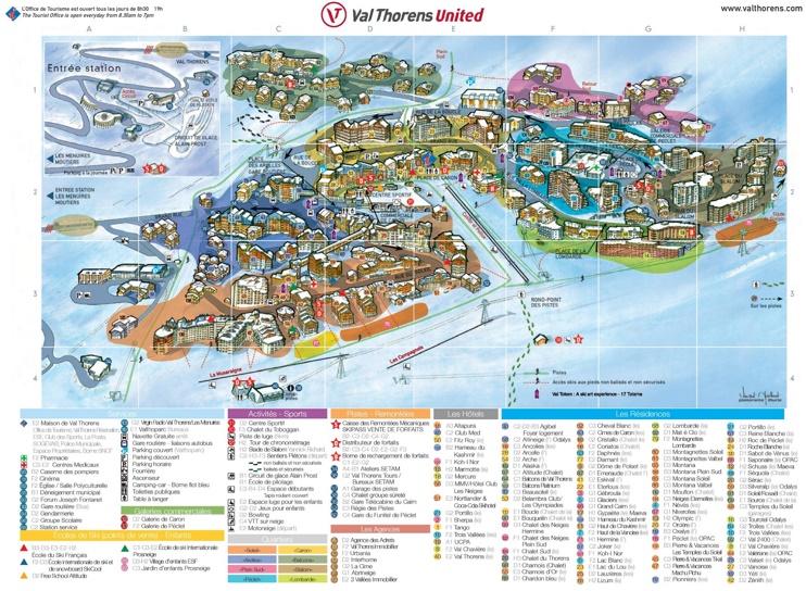 Val Thorens resort map