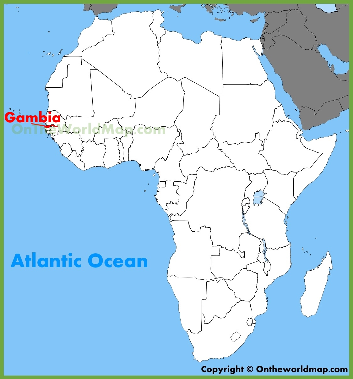 africa map the gambia