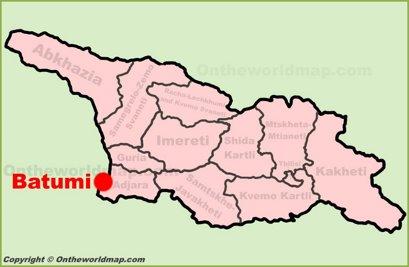 Batumi Location Map