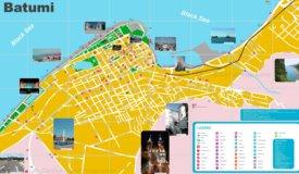 Batumi tourist map