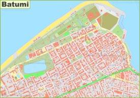Large detailed map of Batumi