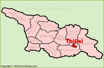 Tbilisi Location Map
