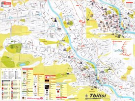 Tbilisi sightseeing map