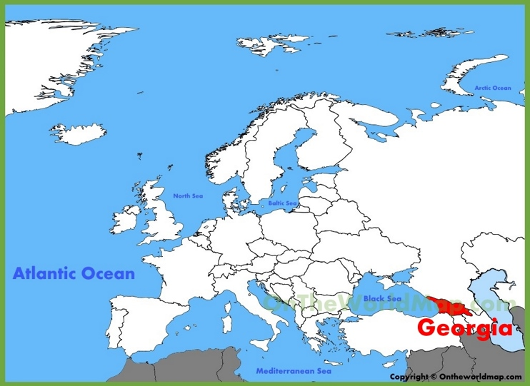 Georgia location on the Europe map