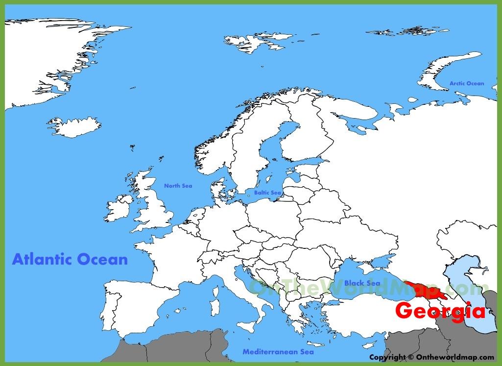Europe Map Georgia Georgia location on the Europe map
