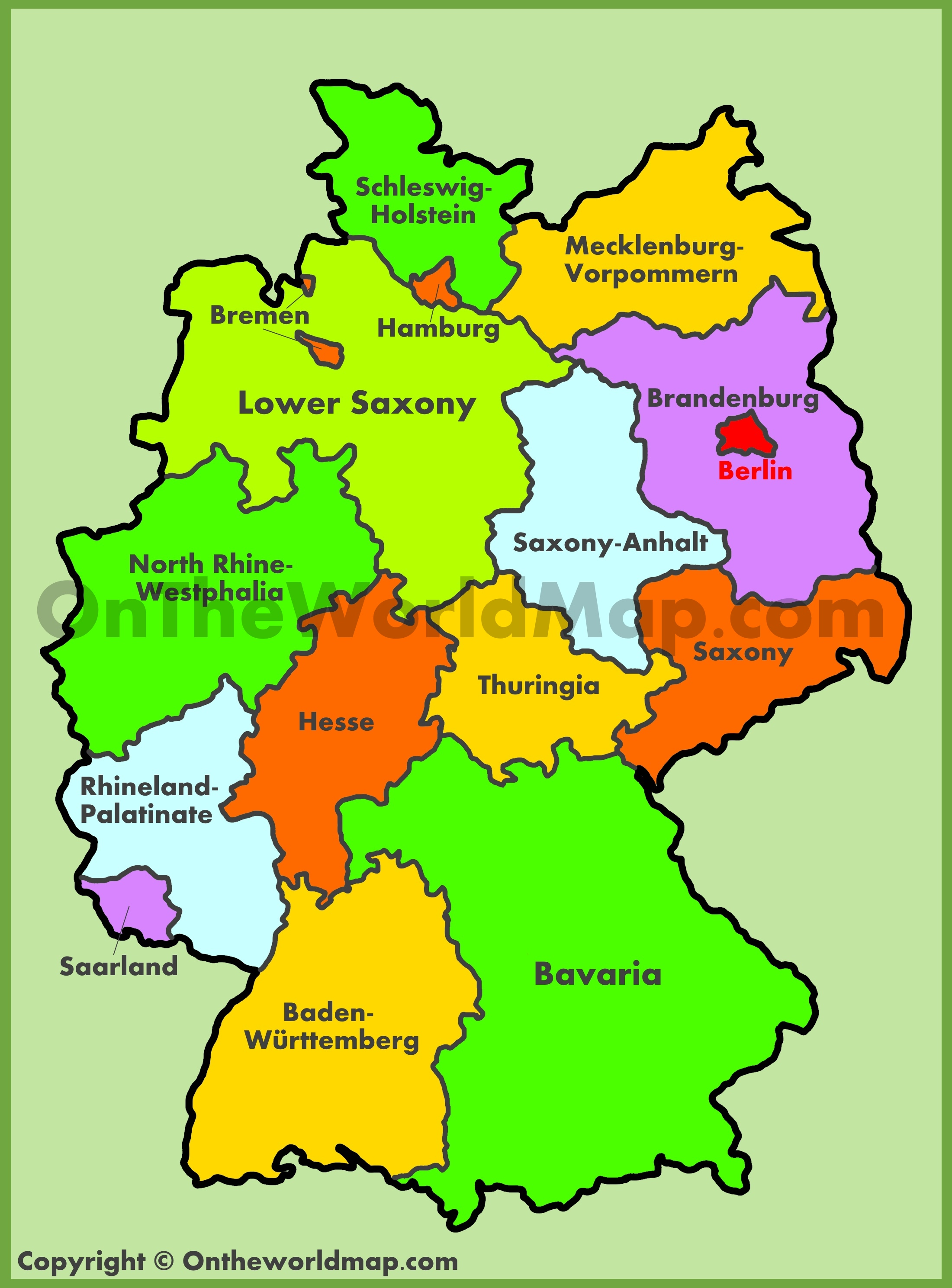 Germany Maps Maps Of Germany - Germany map cartoon