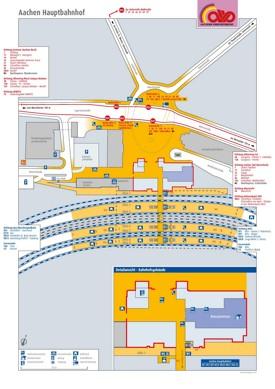 Aachen hauptbahnhof map