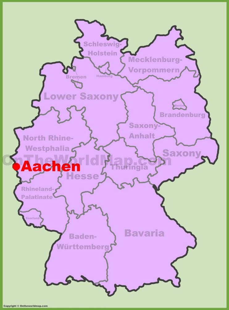 Aachen Germany Map Aachen Maps | Germany | Maps of Aachen Aachen Germany Map