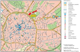 Aachen tourist map