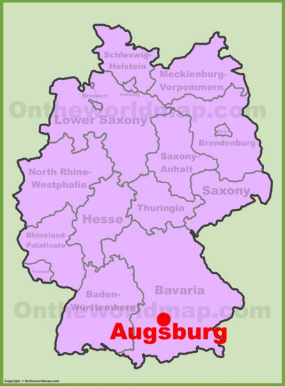 Images of Augsburg Germany Map FAN