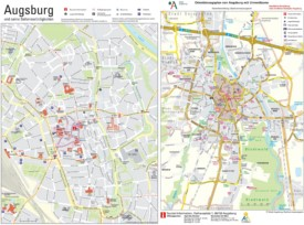 Augsburg sightseeing map
