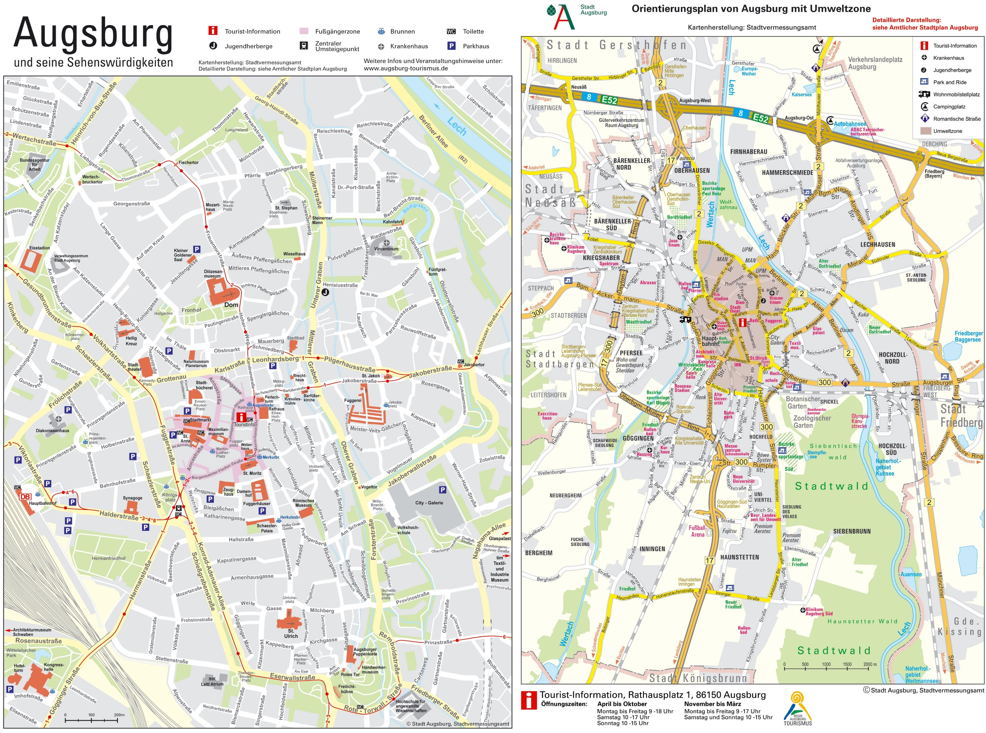 Augsburg Maps Germany Maps of Augsburg