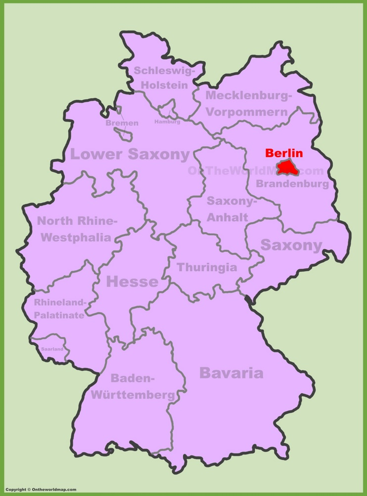 Berlin location on the Germany map