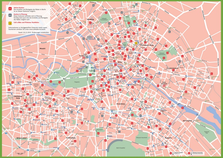 Berlin rental bike map