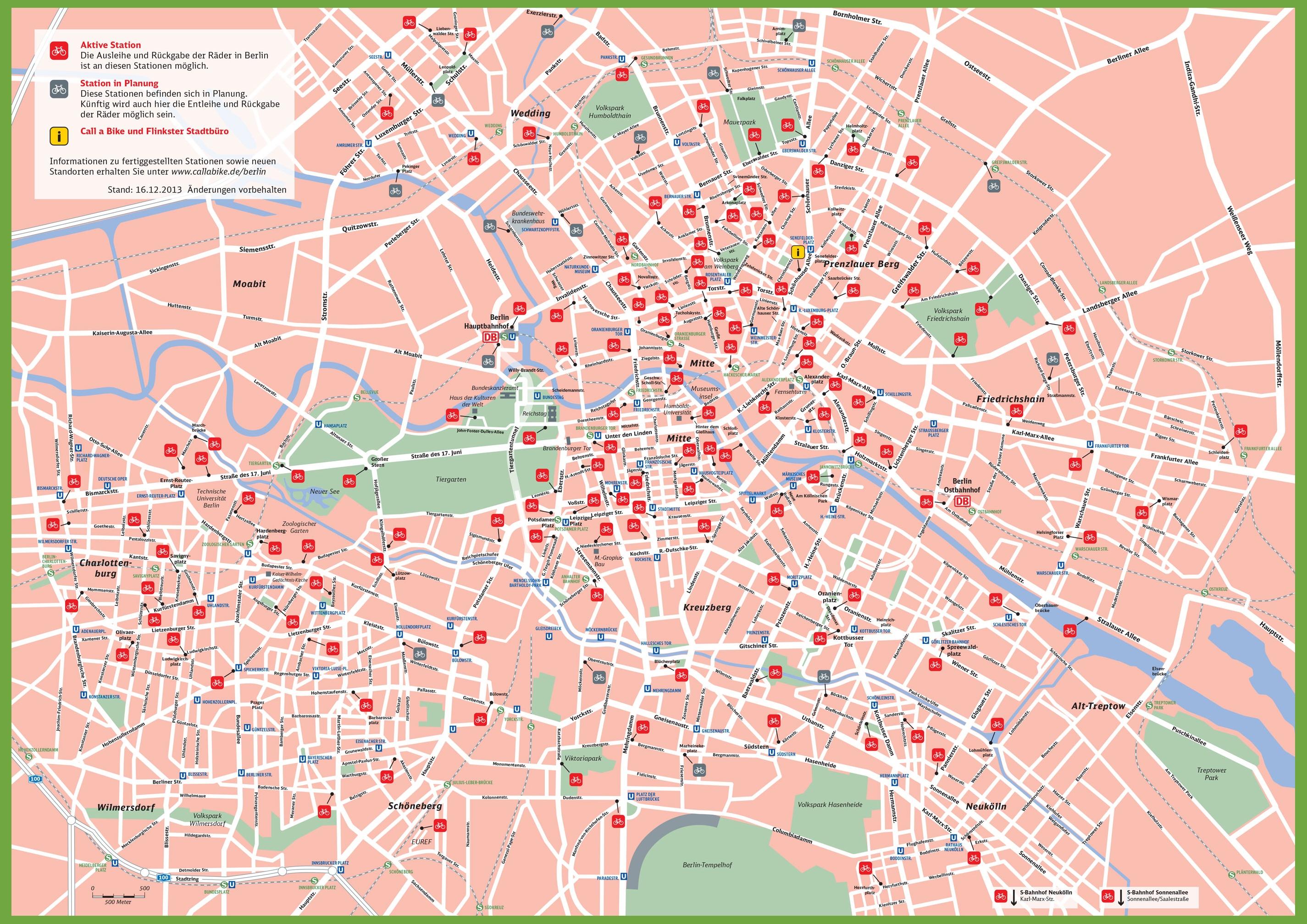 Berlin Rental Bike Map - Berlin on world map