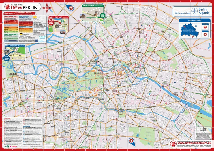 Berlin sightseeing map