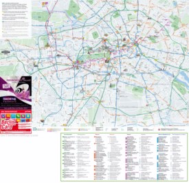 Berlin tourist attractions map