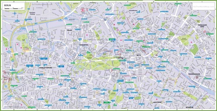 Berlin tourist map