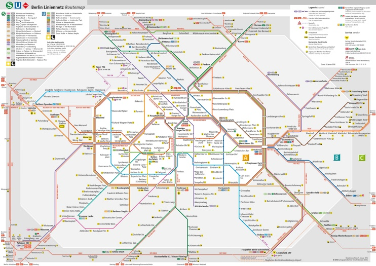 Berlin transport map