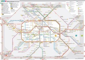 Berlin transport map