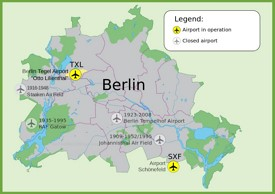 Map of Berlin airports