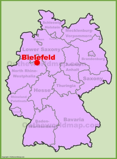 Bielefeld Location Map