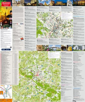 Bielefeld tourist attractions map