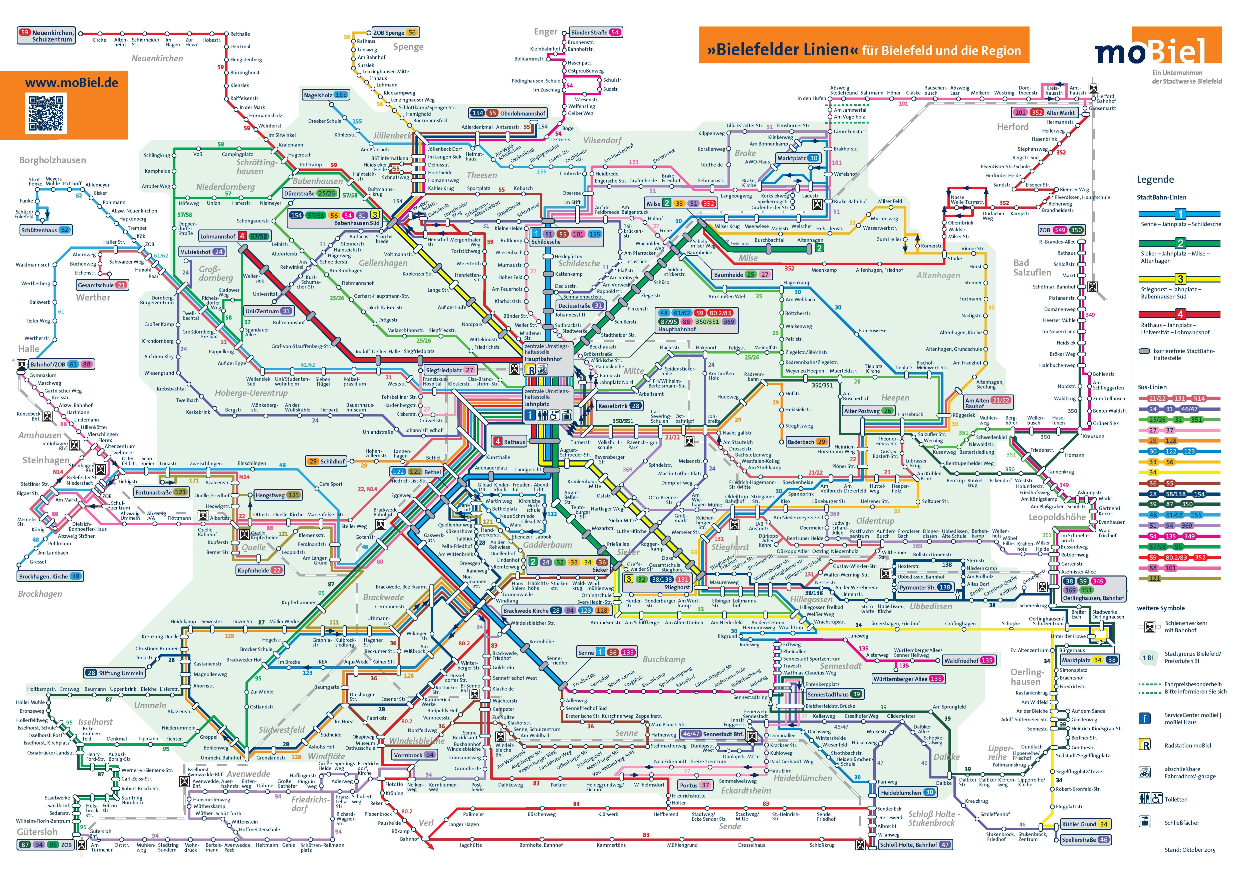 Bielefeld transport map