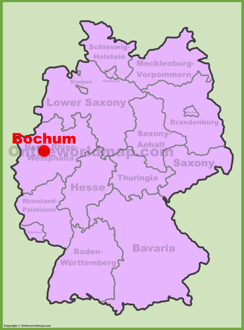 Bochum location on the Germany map