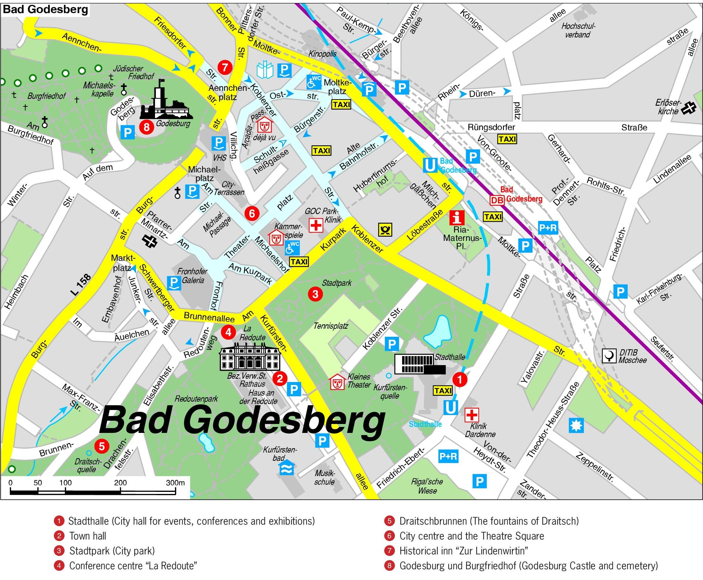 Bonn Bad Godesberg map