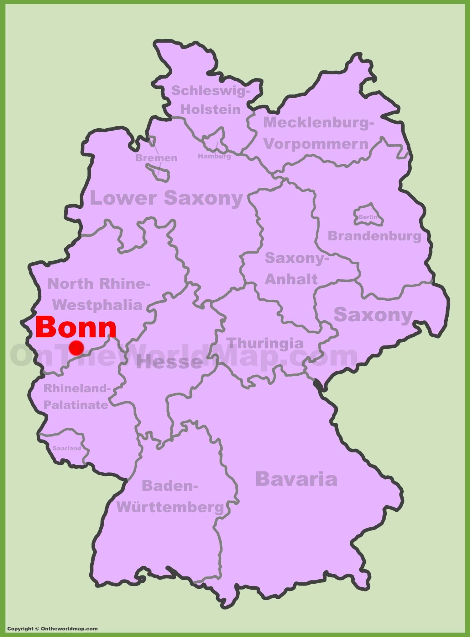Bonn location on the Germany map