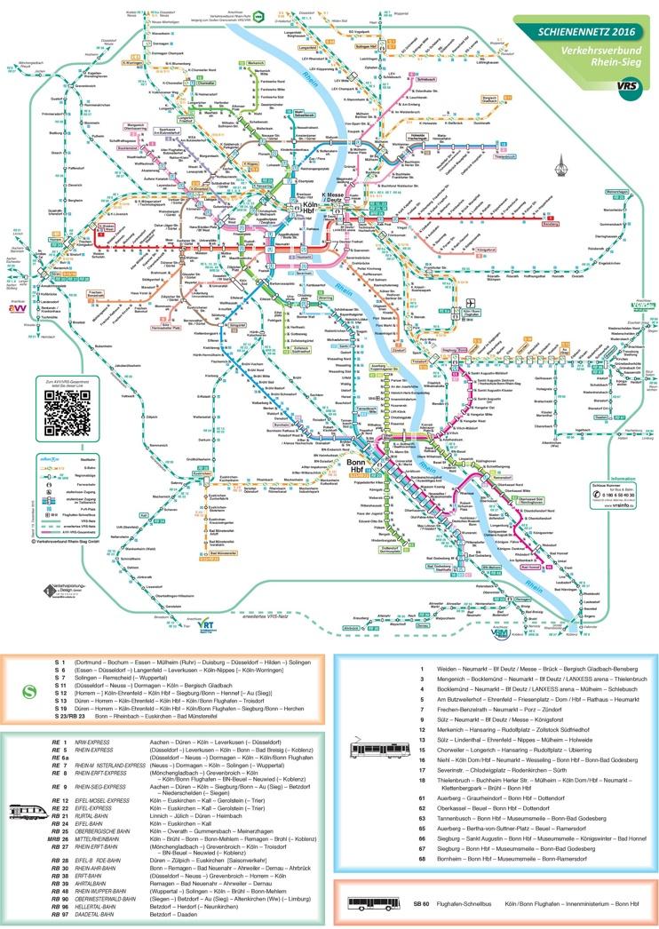 Bonn rail map