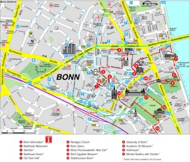 Bonn sightseeing map