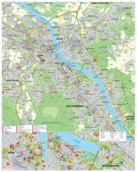 Bonn tourist map
