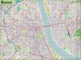 Large detailed map of Bonn