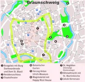 Braunschweig city center map