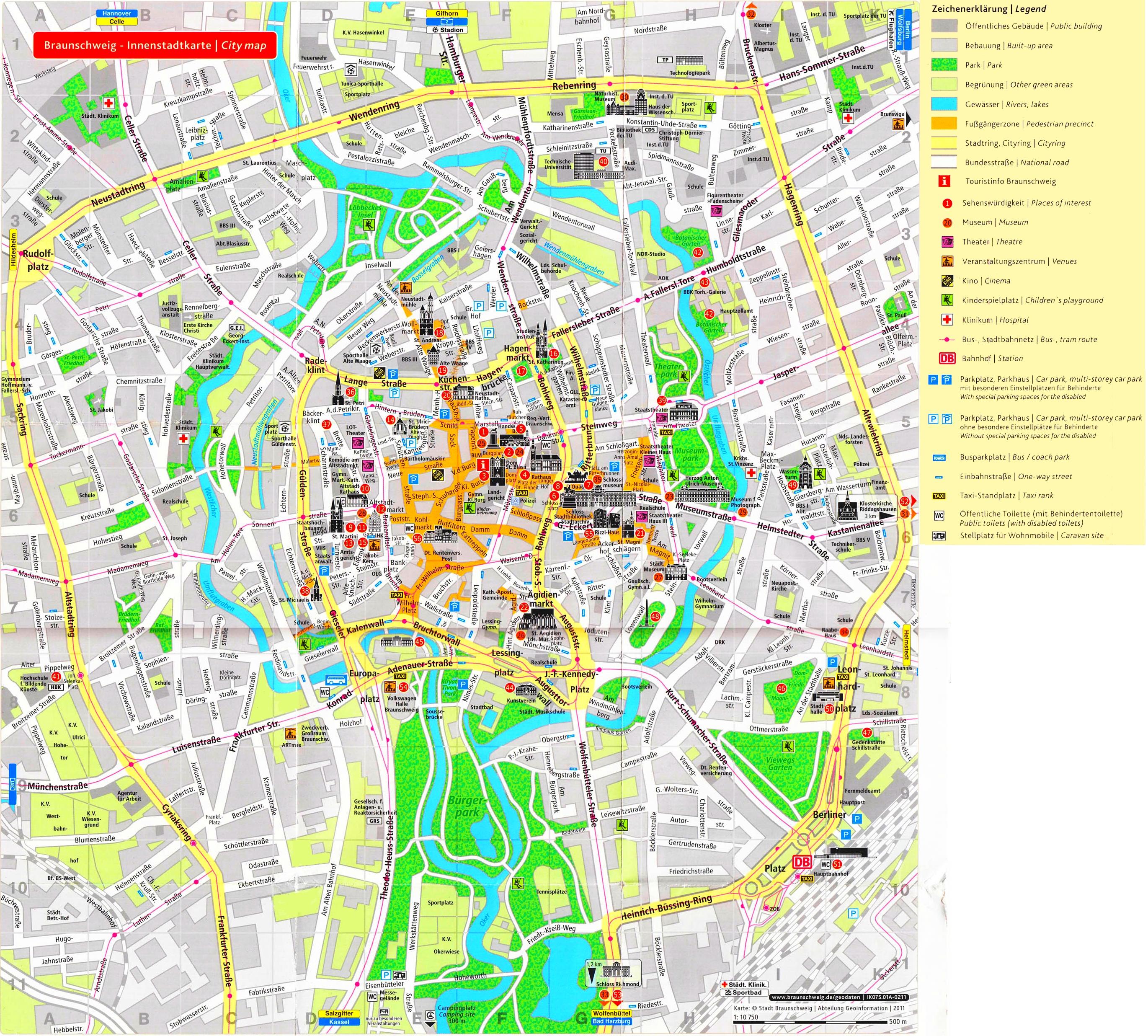 Braunschweig tourist map