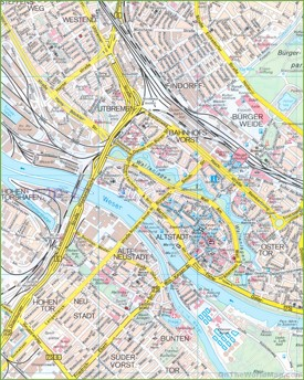 Bremen city centre map