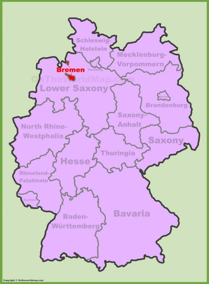 Bremen Location Map