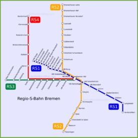 Bremen S-Bahn map