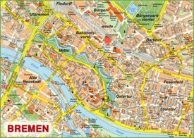 Bremen sightseeing map